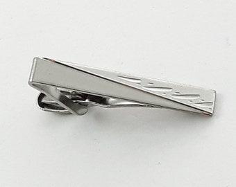Petite Silver Wedding Tie Clip