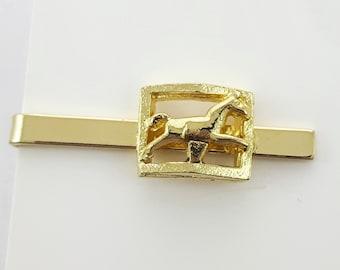 Gold Equestrian Tie Clip