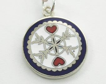 Luck in Love Charm Necklace in Silver