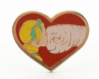 Vintage E.T. the Extra Terrestrial Heart Ring - ET & Gertie