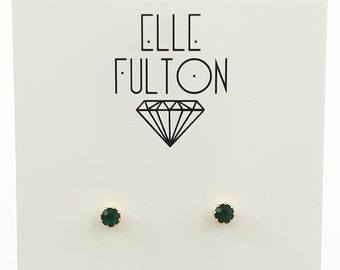 Emerald Crystal Studs