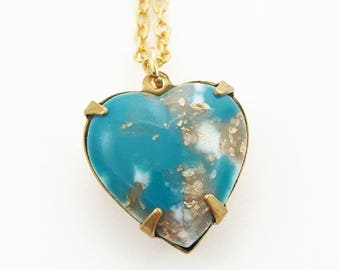 Ocean Matrix Heart Necklace