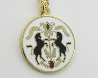 Peace & Contentment Charm Necklace in Gold - Unicorn Charm Neckace