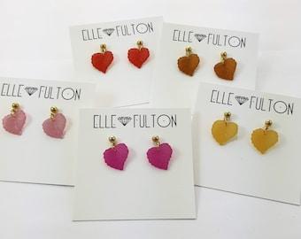 Vintage Leaves Earrings - Choose Color