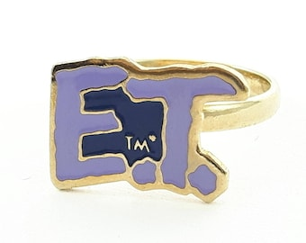 Vintage E.T. the Extra Terrestrial Ring - E.T. Logo Ring