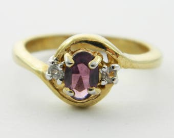 Vintage Faux Amethyst Oval Ring