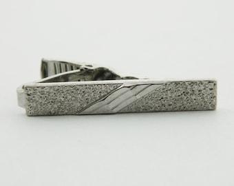 Silver Pebble Beach Tie Clip