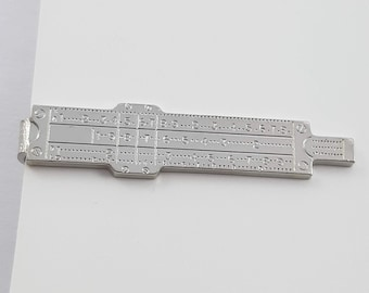 Slider Ruler Tie Clip in Silver