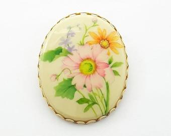 Vintage Mod Floral Brooch - Hallmark Brooch