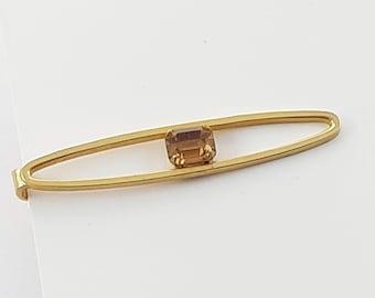 Vintage Gold Topaz Tie Clip