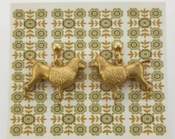 French Poodle Earrings