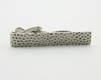 Vintage Silver Pebbles Tie Clip