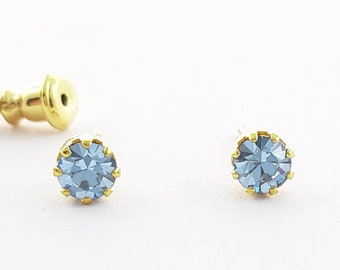Pale Blue Crystal Studs