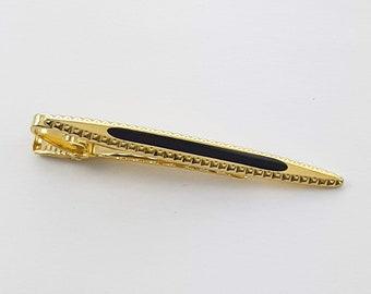 Vintage Gold and Black  Tie Clip