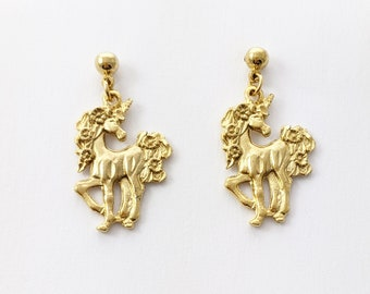 Flower Garland Unicorn Earrings