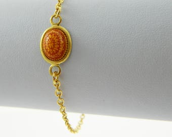 Mandala Bracelet in Red & Yellow