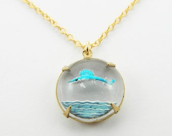 Vintage Swordfish Necklace