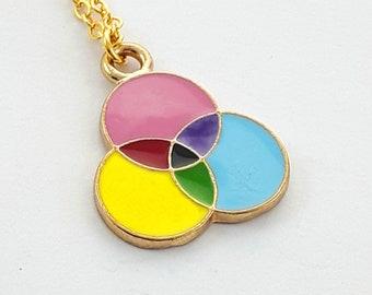 Enameled Color Model Necklace