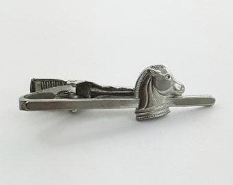 Silver Horse Tie Clip - Silver Chess Piece Tie Clip