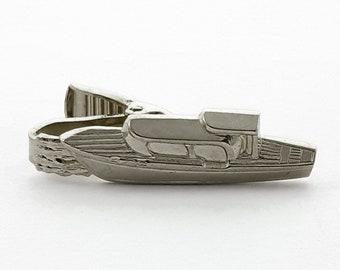 Vintage Silver Boat Tie Clip