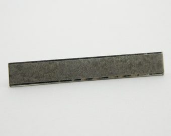 Oversized Silver Etched Tie Bar