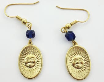 Vintage 90s Sun Earrings