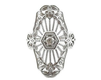 Art Deco Filigree Ring in Sterling Silver