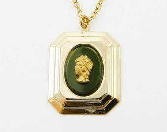 Greek Goddess Cameo Necklace