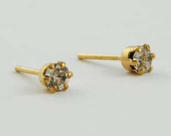 Faux Diamond Crystal Studs
