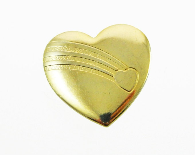 Featured listing image: Gold Rainbow Heart Brooch