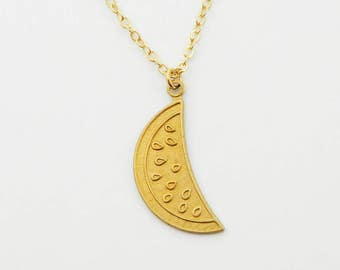 Gold Watermelon Necklace