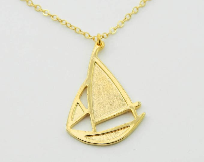 Featured listing image: Gold Sailboat Necklace