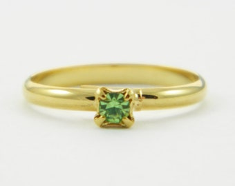 Children's Adjustable Birthstone Ring - Peridot Ring