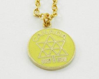 Canada Centennial Necklace in Yellow