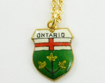 Vintage Ontario Charm Necklace