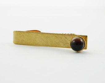 Chestnut Moonstone Tie Clip