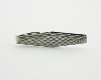 Geneva Tie Clip - TT198 - Silver Tie Clip - Vintage Tie Clip