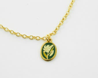Daffodil Charm Necklace