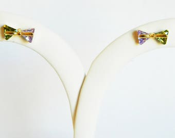 Crystal Bow Studs