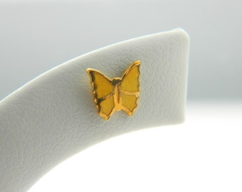 Tiny Yellow Butterfly Earrings