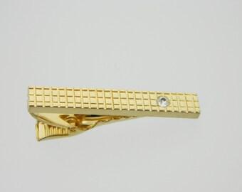 Gold Gridlock Tie Clip