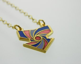 1970s Arrow Necklace - Burgundy