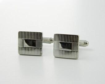 Silver Square Cuff Links - CL019
