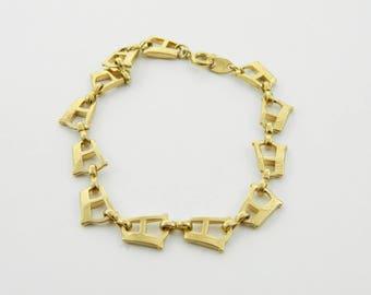 "Vintage TRIFARI Initial Bracelet - Initial ""A"" Bracelet"