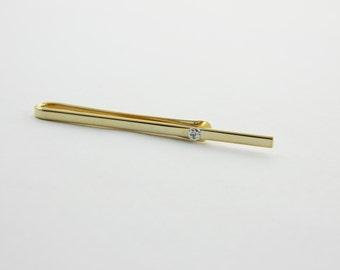 Gold Wedding Tie Bar