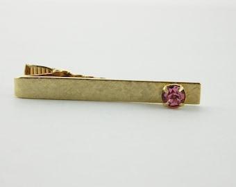 Pink Sapphire Tie Clip