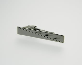 Silver Rain Tie Clip - TT040