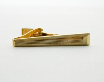 Gold Geometric Tie Clip