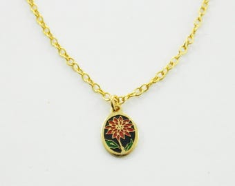 Dahlia Charm Necklace