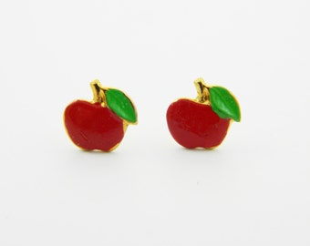 Tiny Apple Studs